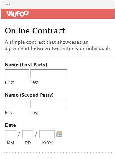 Online Form Template   Wufoo