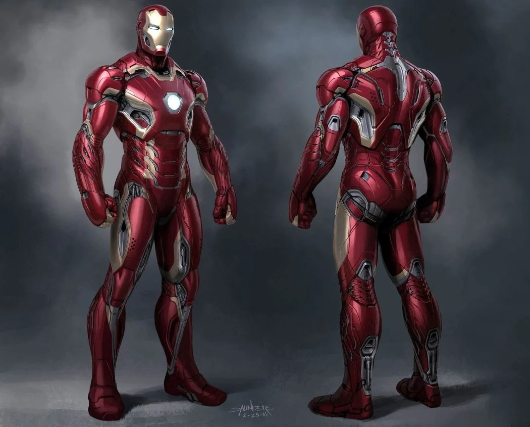 Phil Saunders  the concept designer behind the Iron Man suits     Phil s visualization of the Mark 46 suit for Captain America  Civil War