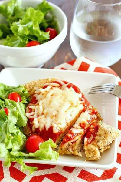 Skinny Chicken Parmesan Recipe - Yummy Healthy Easy