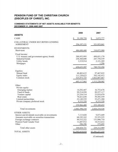 PENSION FUND OF THE CHRIS