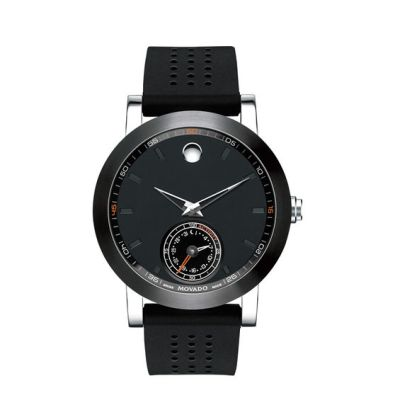 Mens' Movado Motion Museum Sport Chronograph Strap Smart Watch with Black Dial (Model: 660003 ...