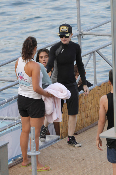 Madonna and Lourdes Leon Photos Photos - Madonna and Family Vacation in France - Zimbio