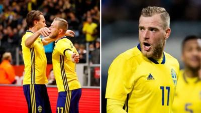John Guidetti gjorde mål för Sverige mot Slovakien