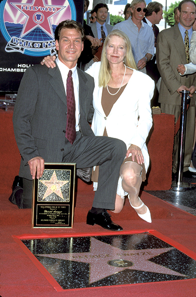 Patrick Swayze & wife Lisa Niemi (Photo by SGranitz/WireImage)