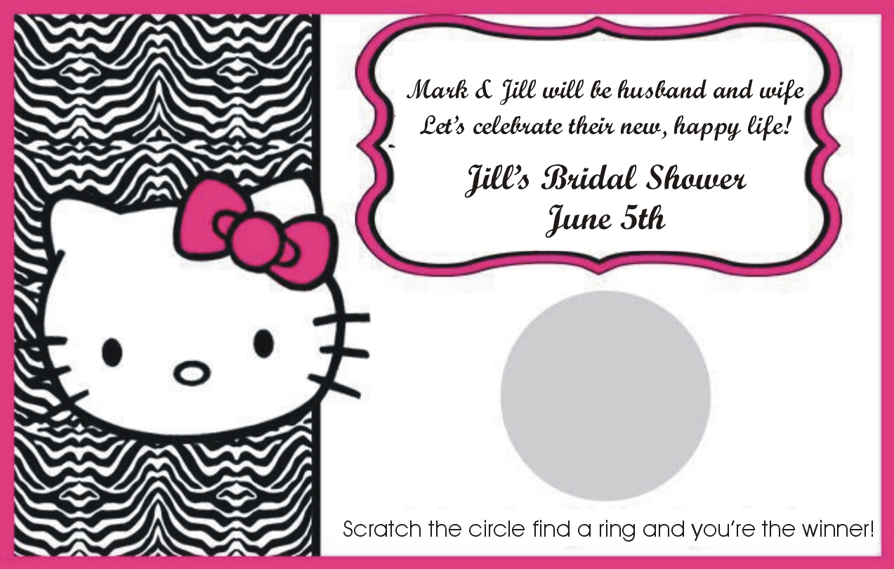 are you ready for a fanciful bridal shower hello kitty wedding ring In fact