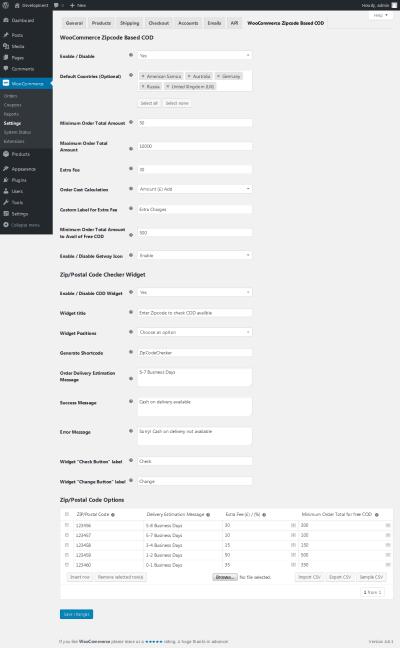 WooCommerce Zipcode Based COD by setubridge | CodeCanyon
