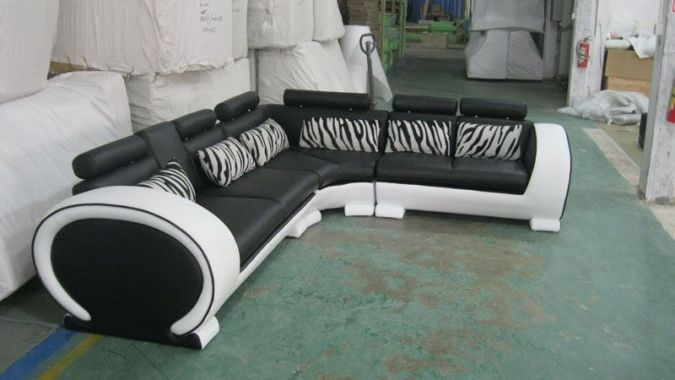 Lederen Design hoekbank  bank sofa leer