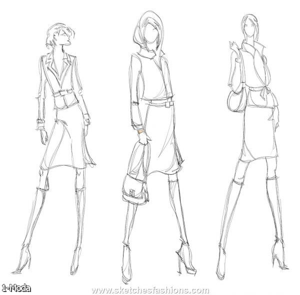 Ideas Sketches Clothing Woman