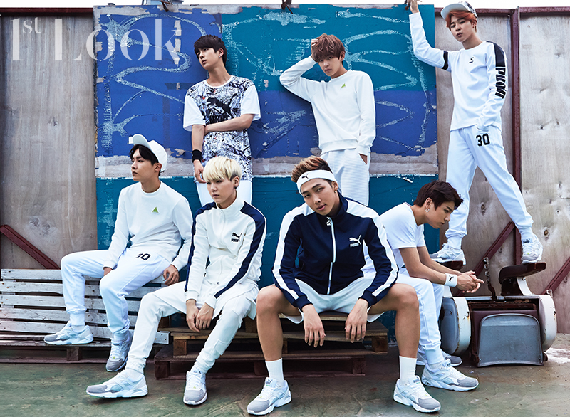 BTS Rocks Athleisure in Group Pictorial for 1st Look | Soompi
