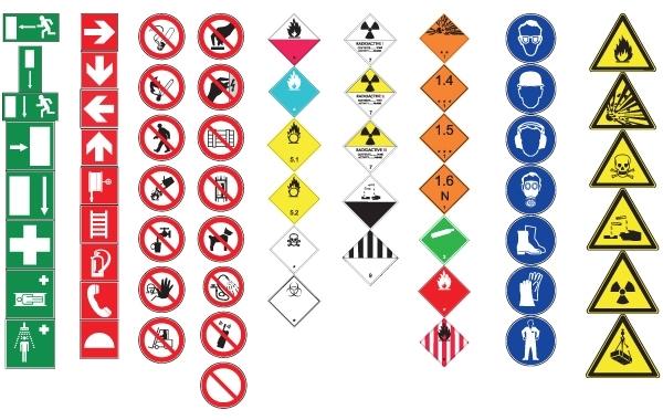 Iso Warning Symbols Vector Art