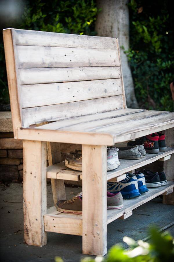Coat And Shoe Rack Bench
