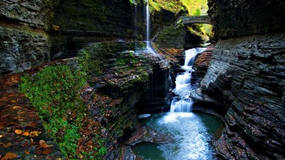 moss gorge watkins glen state park falls-Scenery HD ...