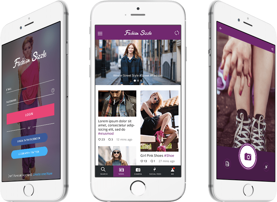 Photo Sharing Mobile App   FasionSizzle   Successful Development Story Whether an avid fashion lover  or just starting to love fashion  it is a  lifestyle app that combines social networking aspects from Twitter   photo  sharing
