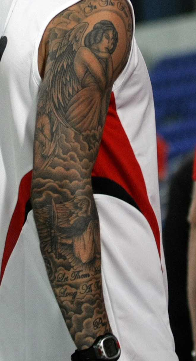 David Beckham and His Tattoos - Tattoo.com