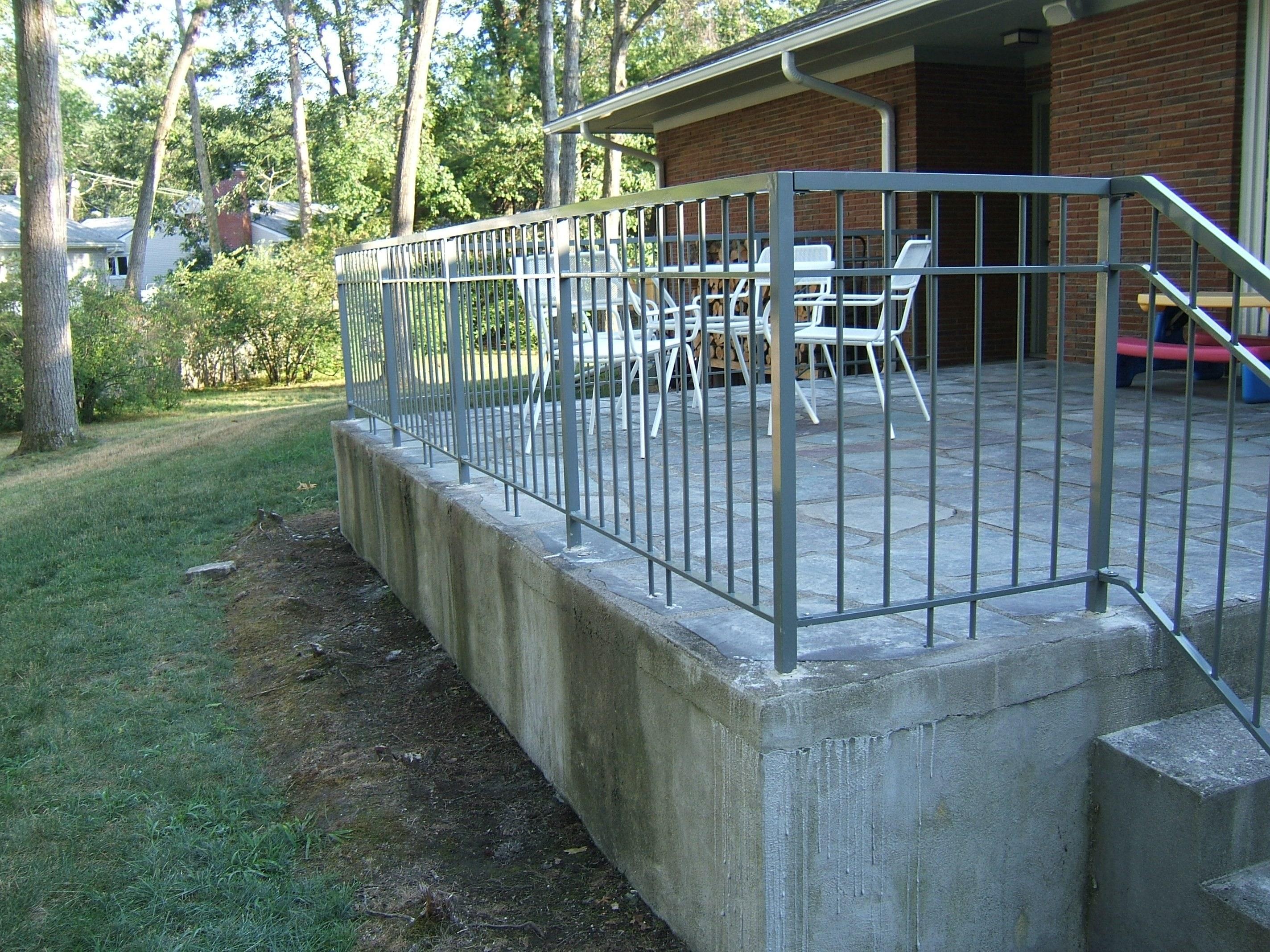 Custom Aluminum Railing Custom Metal Fences Custom Rail Tech | Railing For Concrete Porch | Residential | Paver Patio | Hand | Flagstone Porch | Repair