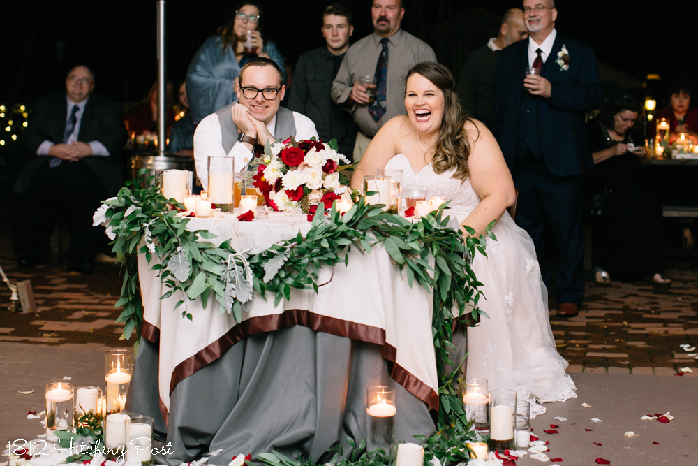 Fire Elopement Wedding Winter Pit