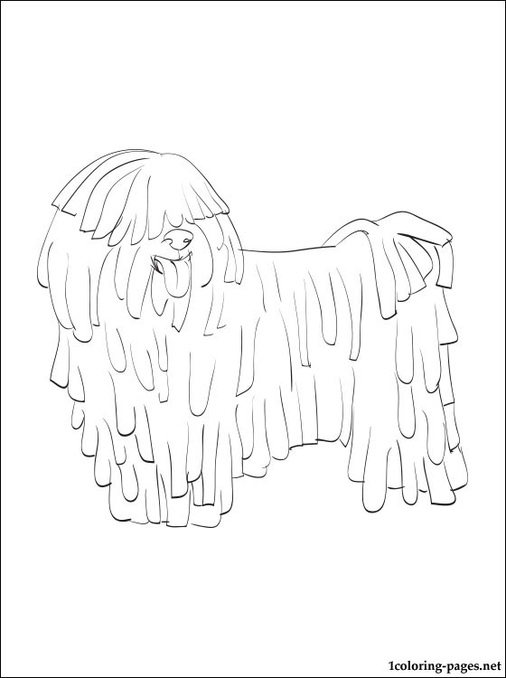 Puli coloring page coloring pages, love printable coloring pages