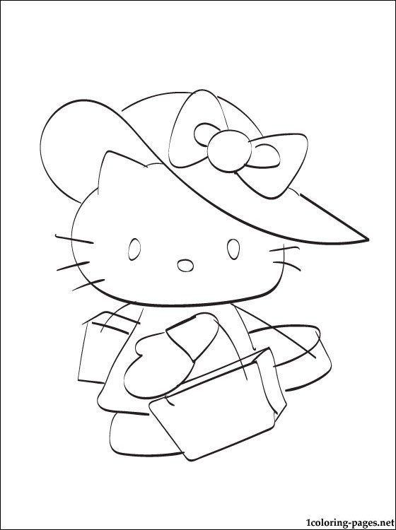 hello kitty coloring pages that you can print # 17