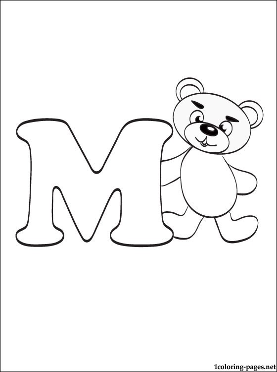 m coloring page # 72