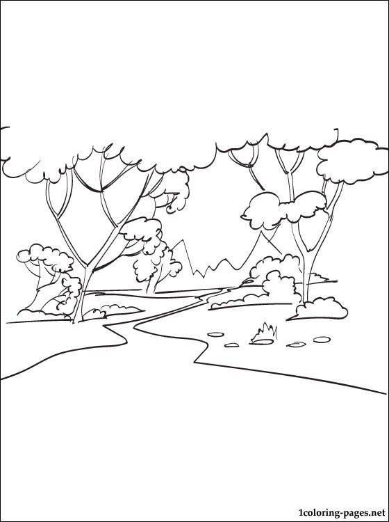 forest coloring page # 55