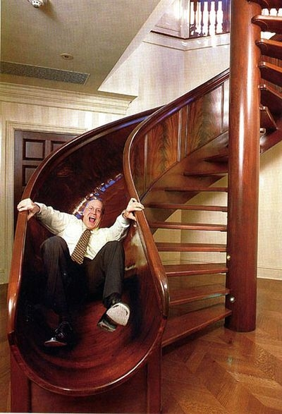 Spiral Stair Slide – 1Funny Com | Spiral Staircase With Slide | Modern | 1930'S | Interior | Cool | Stainless Steel Spiral