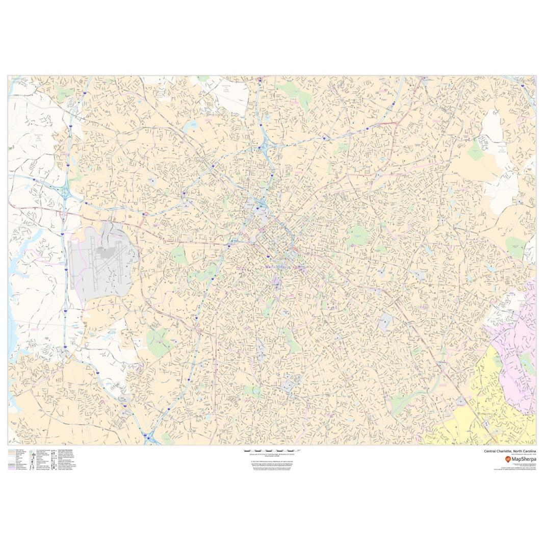 Map Central Charlotte Nc