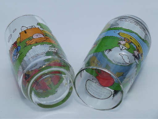 Camp Snoopy Glasses Peanuts Collectible Drinking Glasses