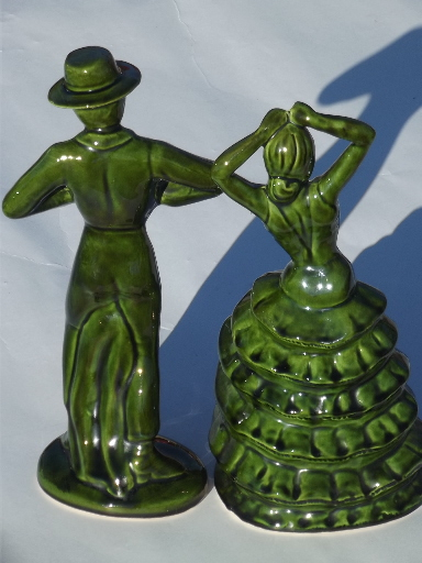 Vintage Ceramic Art Spanish Flamenco Dancers 50s 60s