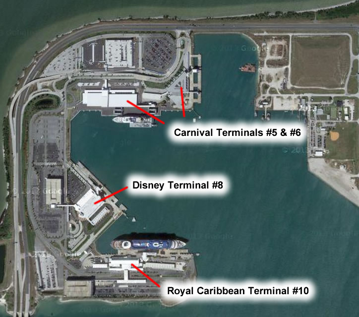 Map Port Canaveral Terminal 6