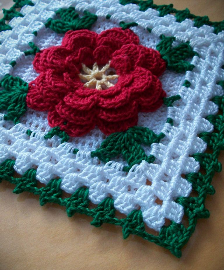 Rooster Crochet Pot Holder Pattern