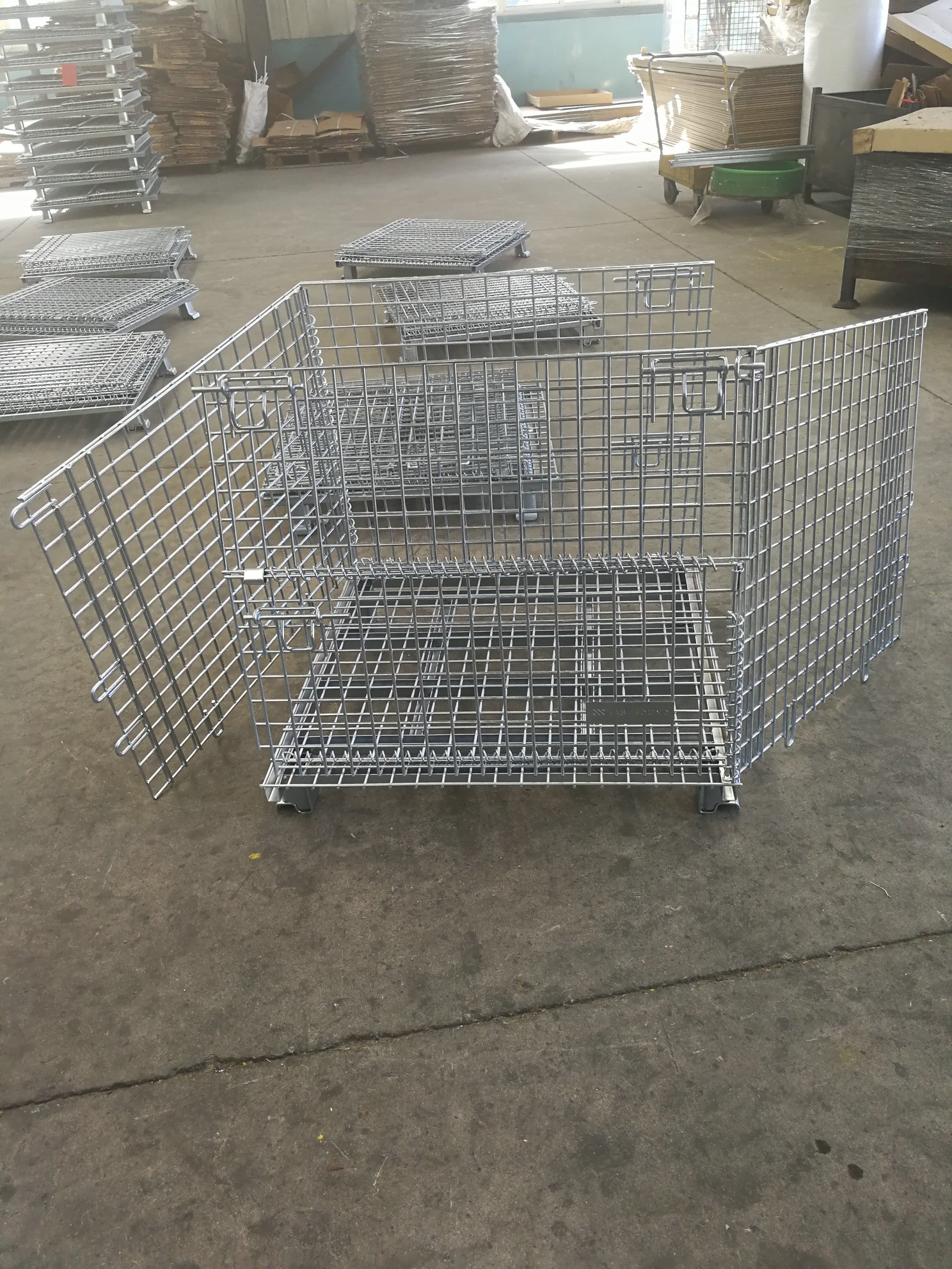 Container Gate Warehouse Containers Wire Storage Bins