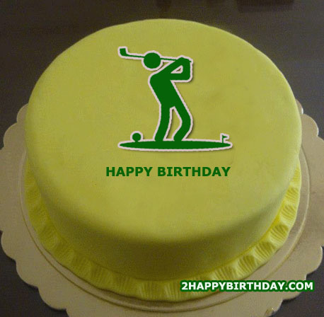 Golf Themed Birthday Cake With Name 2happybirthday