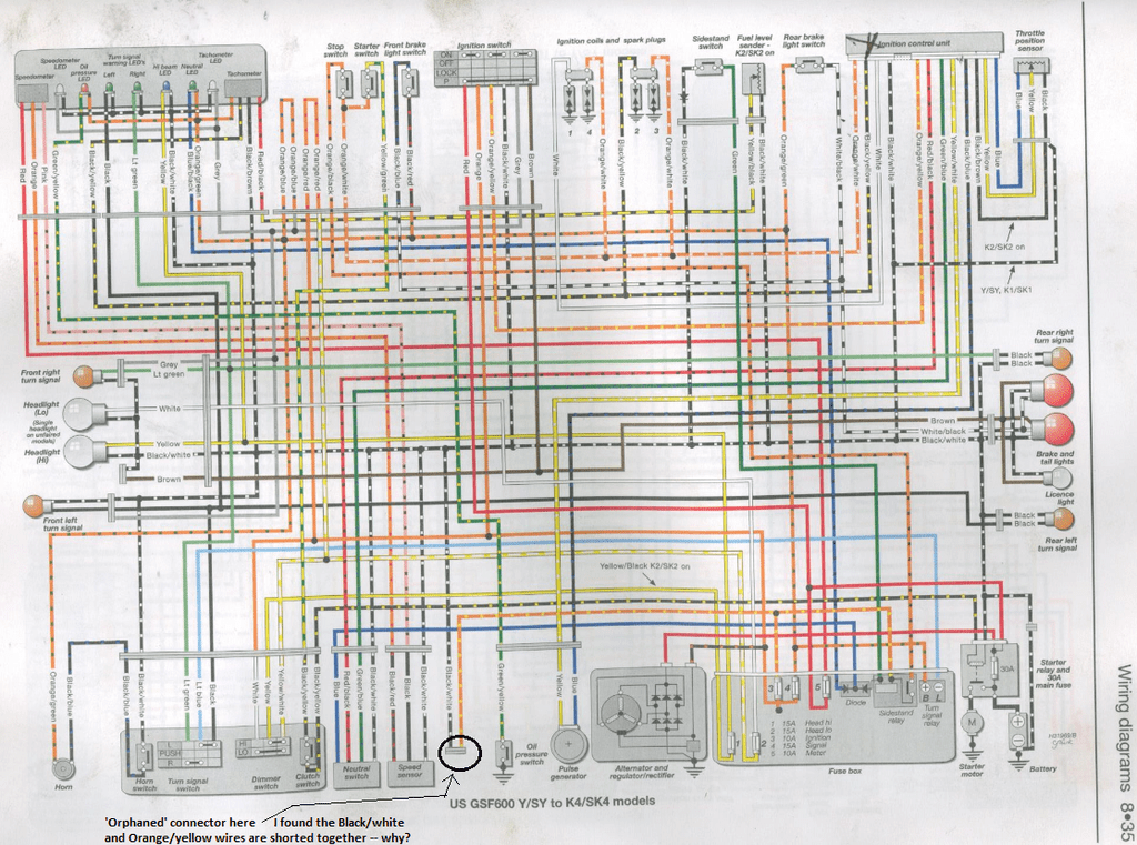 wiring diagrams suzuki bandit wiring diagram content  suzuki bandit 1200 wiring diagram #8