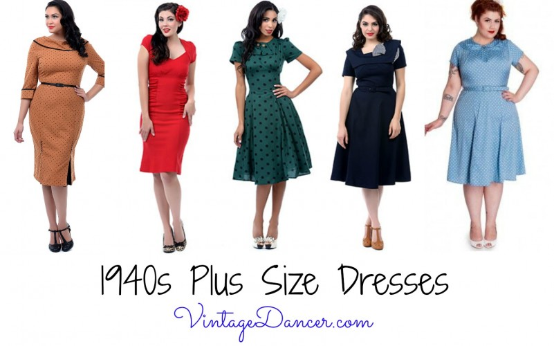 How to Wear 1940s Women s Fashion 1940s style dresses in Plus Sizes  Shop these and more here