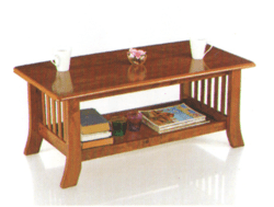 Wooden Teapoy   Glass Coffee Table  White from Chennai Sophia Coffee Table