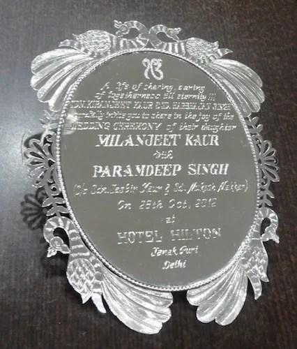 Silver Wedding Cards Manufacturer From Delhi