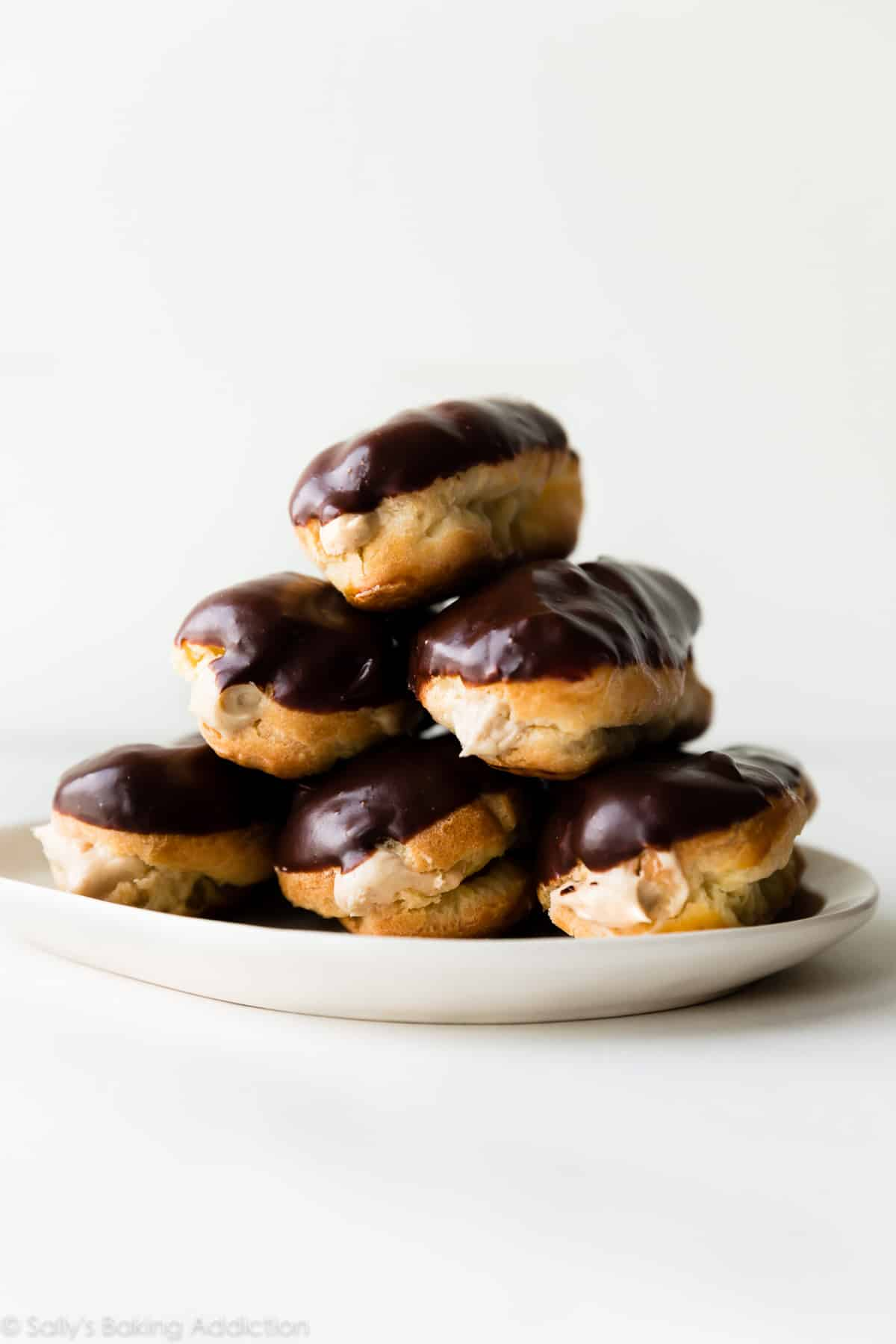 Homemade Eclairs with Peanut Butter Mousse Filling | Sally ...