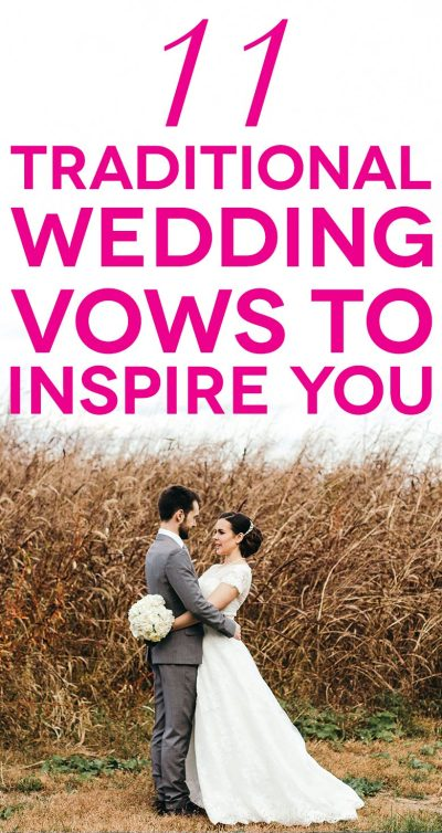 11 Traditional Wedding Vows That Will Inspire You | A ...