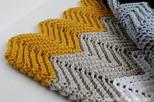 Scarf Ripple Pattern Chevron Crochet