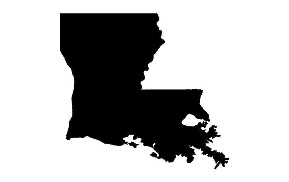 Louisiana Map dxf File Free Download - 3axis.co