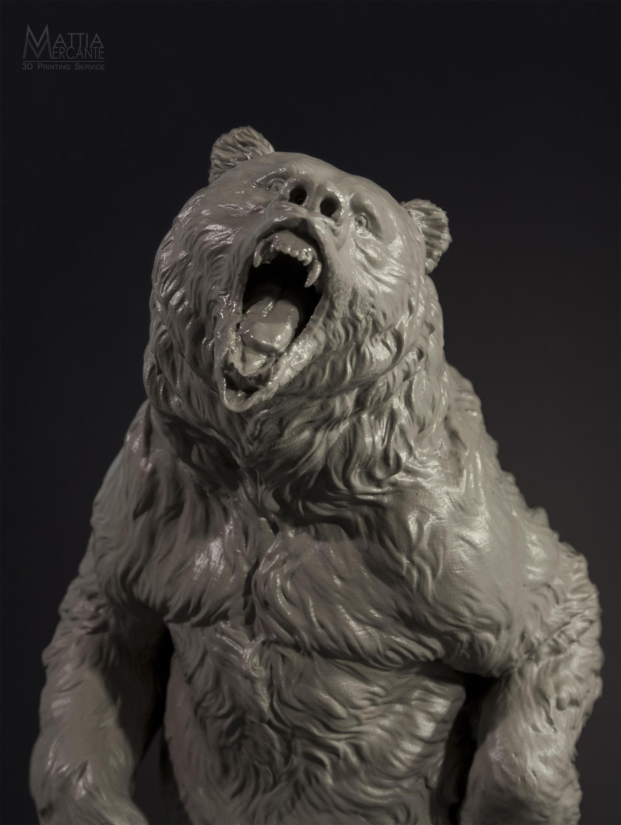 33cm Tall Extremely Detailed Bear Printed On A Form 1