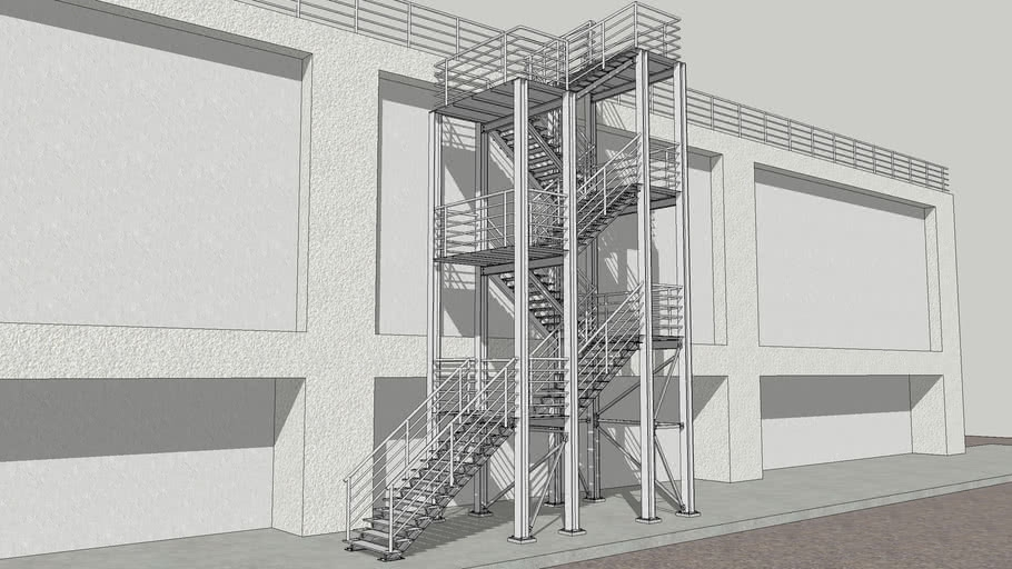 Structural Steel Staircase 3D Warehouse   Steel Steps For Stairs   Chequer Plate   Fabricated   Wire Mesh   Prefabricated   Corrugated Metal