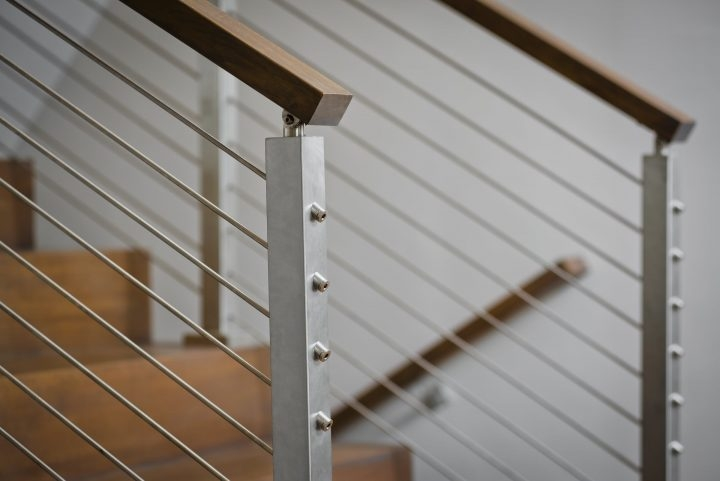 Cable Railing Vs Wood Railing Owings Brothers Contracting | Exterior Wood Handrail Designs | Exterior Railing Iron | Style Stainless Steel Wood | Wooden | Contemporary Wood | Modern