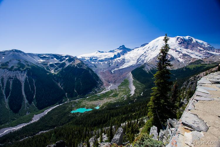Mt Rainier And Emmons Glacier From Sunrise Rim Trail