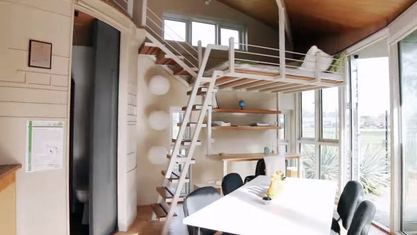 Modern Tiny Cabin And A Two Story Pop Up Tiny House | Pop Design For Stairs Roof | Attractive | Stylish | Pop Boundary | Popular | Creative
