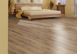 Wooden Flooring in Delhi                                                                                                   Light Brown Teak Wooden Flooring
