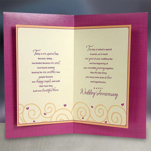 First Your Wedding Anniversary Card At Rs 95 No Marriage Invitation Cards Wedding Invitation