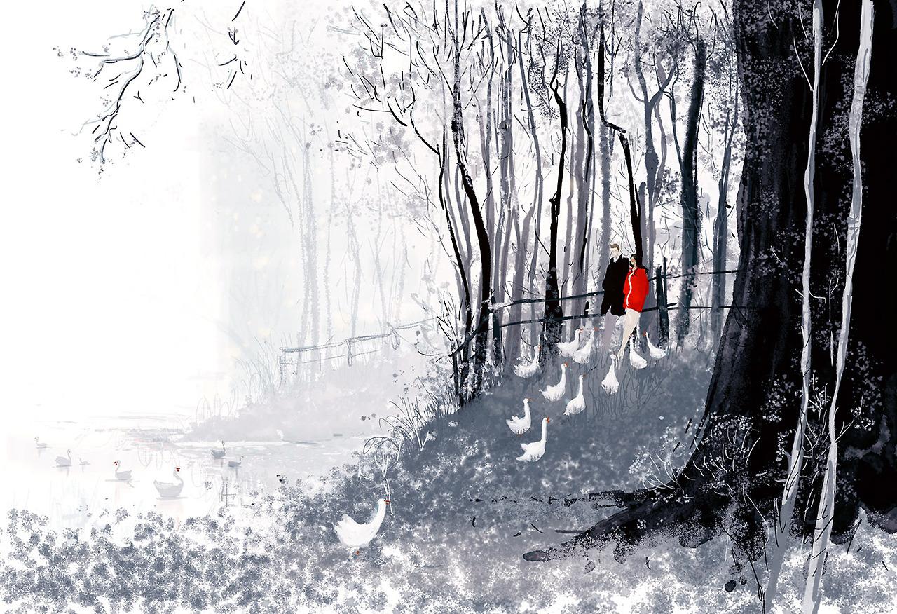 snow winter Illustration art artists on tumblr Pascal ...