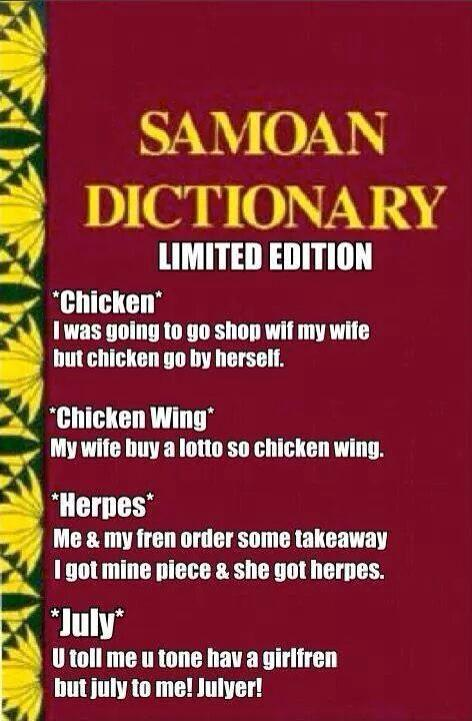 Funny Laughing Samoan Quotes