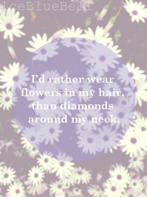 Quotes About Flowers Hair